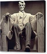 The Lincoln Memorial Canvas Print by Daniel Chester French