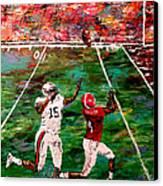 The Longest Yard - Alabama Vs Auburn Football Canvas Print by Mark Moore