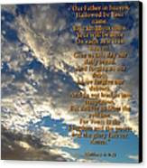 The Lords Prayer Canvas Print by Glenn McCarthy Art and Photography