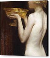 The Loving Cup Canvas Print by Janet Agnes Cumbrae-Stewart