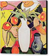The Lute Player Canvas Print by August Macke
