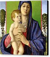 The Madonna Of The Trees Canvas Print by Giovanni Bellini