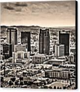 The Magic City Sepia Canvas Print by Ken Johnson