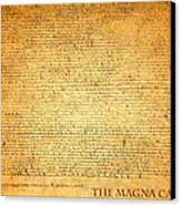 The Magna Carta 1215 Canvas Print by Design Turnpike