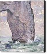 The Manneporte Seen From Below Canvas Print by Claude Monet