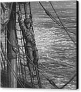 The Mariner Describes To His Listener The Wedding Guest His Feelings Of Loneliness And Desolation  Canvas Print by Gustave Dore