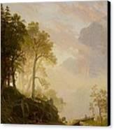 The Merced River In Yosemite Canvas Print by Albert Bierstadt