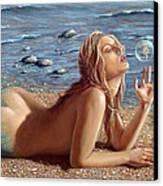 The Mermaids Friend Canvas Print by John Silver