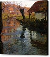 The Mill Stream Canvas Print by Fritz Thaulow