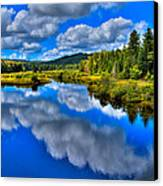 The Moose River From The Green Bridge Canvas Print by David Patterson