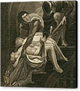 The Murder Of The Two Princes Canvas Print by James Northcote
