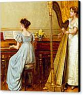 The Music Room Canvas Print by George Goodwin Kilburne