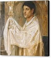 The Mystery Of Faith Canvas Print by Simeon Solomon