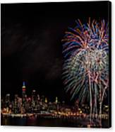 The New York City Skyline Sparkles Canvas Print by Susan Candelario
