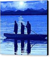 The Night Fishermen Canvas Print by SophiaArt Gallery
