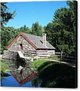 The Old Grist Mill Canvas Print by Georgia Hamlin
