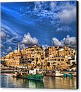 the old Jaffa port Canvas Print by Ron Shoshani