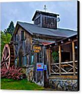 The Old Mill Restaurant - Old Forge New York Canvas Print by David Patterson