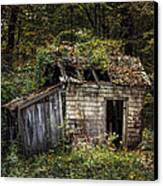 The Old Shack In The Woods - Autumn At Long Pond Ironworks State Park Canvas Print by Gary Heller
