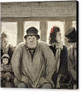 The Omnibus Canvas Print by Honore Daumier
