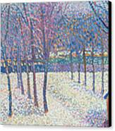 The Orchard Under The Snow  Canvas Print by Hippolyte Petitjean