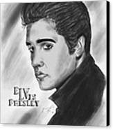 The Original Rockstar Elvis Presley Canvas Print by Pierre Louis
