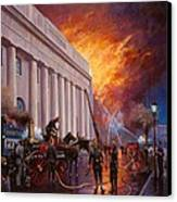 The Pantechnicon Fire. 1874. Canvas Print by Mike  Jeffries