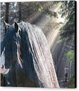 The Parting Of Two Earthly Souls Canvas Print by Terry Kirkland Cook