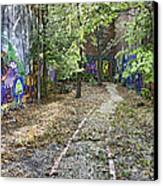 The Path Of Graffiti Canvas Print by Jason Politte