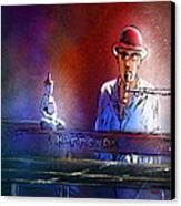 The Pianist 02 Canvas Print by Miki De Goodaboom