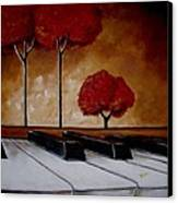 The Piano Man's Dream Canvas Print by Vickie Warner