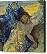 The Pieta After Delacroix 1889 Canvas Print by Vincent Van Gogh