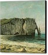 The Porte D'aval At Etretat Canvas Print by Gustave Courbet