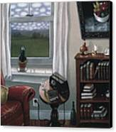 The Red Chair 1997 Canvas Print by Larry Preston