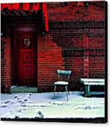 The Red Door Canvas Print by Amy Cicconi