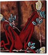 The Red Shoes Canvas Print by Barbara St Jean