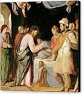 The Resurrection Of Jairus's Daughter Canvas Print by Santi Di tito