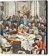 The Reward Of Cruelty, From The Four Canvas Print by William Hogarth
