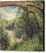 The River Severn At Buildwas Canvas Print by Amanda Elwell