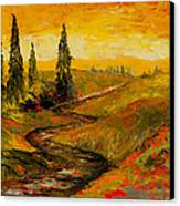 The Road To Tuscany Canvas Print by Larry Martin