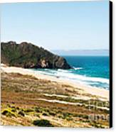 The Rock Of Piedras Blancas Lighthouse In San Simeon Ca Canvas Print by Artist and Photographer Laura Wrede