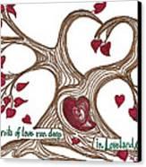 The Roots Of Love Canvas Print by Minnie Lippiatt