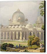 The Roza At Mehmoodabad In Guzerat, Or Canvas Print by Captain Robert M. Grindlay
