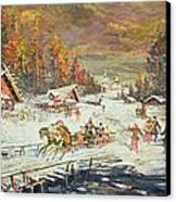 The Russian Winter Canvas Print by Konstantin Korovin