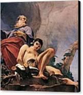 The Sacrifice Of Isaac Canvas Print by Giovanni Battista Tiepolo