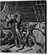 The Sailors Curse The Mariner Forced To Wear The Dead Albatross Around His Neck Canvas Print by Gustave Dore