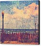 The Salty Air Sea Breeze In Her Hair Iv Canvas Print by Aurelio Zucco