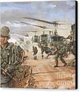 The Screaming Eagles In Vietnam Canvas Print by Bob  George