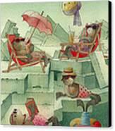 The Seal Beach Canvas Print by Kestutis Kasparavicius