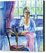 The Seamstress Canvas Print by Trudi Doyle
